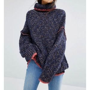 FREE PEOPLE Echo Pullover Turtleneck Sweater